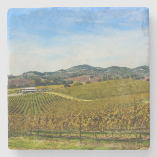 Napa Valley California Vineyard Stone Coaster