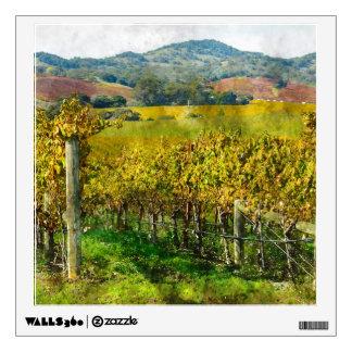 Napa Valley California Vineyard Wall Decal
