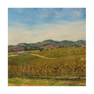 Napa Valley California Vineyard Wood Wall Art
