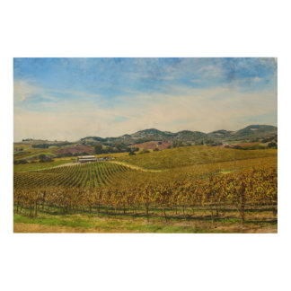 Napa Valley California Vineyard Wood Wall Decor