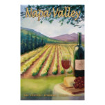 Napa Valley, California Wine Country Travel Poster