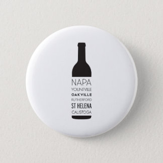 Napa Valley Cities Wine Bottle 2 Inch Round Button