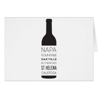 Napa Valley Cities Wine Bottle Card