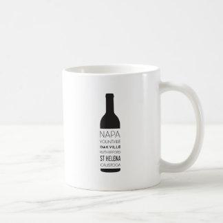 Napa Valley Cities Wine Bottle Coffee Mug
