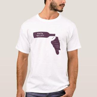 Napa Valley Cities Wine Bottle Spill Logo T-Shirt