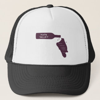 Napa Valley Cities Wine Bottle Spill Logo Trucker Hat