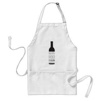 Napa Valley Cities Wine Bottle Standard Apron