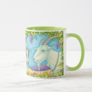 Napa Valley Goats Grape Arbor R Hand Mug Billy Kid