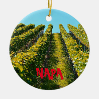Napa Valley Scenic Christmas Ornament