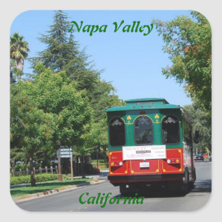 Napa Valley Streetcar Square Sticker