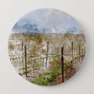 Napa Valley Vineyard 4 Inch Round Button
