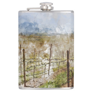 Napa Valley Vineyard Hip Flask