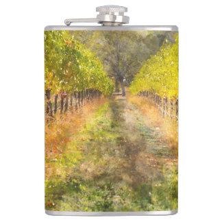 Napa Valley Vineyard in Fall Flasks