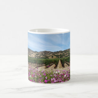 Napa Valley Vineyard With Cosmos Flowers Coffee Mug