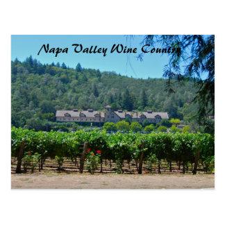 Napa Valley Wine Country Vineyard Postcard