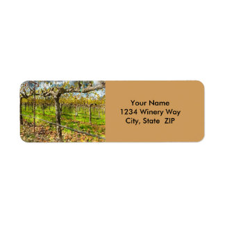 Napa Valley Winery Address Labels