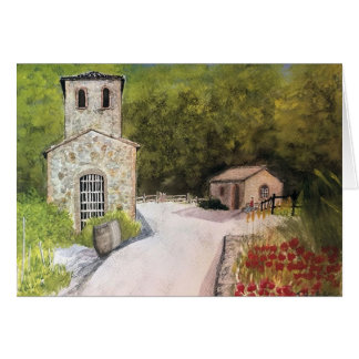 NAPA VALLEY WINERY WATERCOLOR CARD