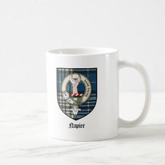 Napier Clan Crest Badge Tartan Coffee Mug