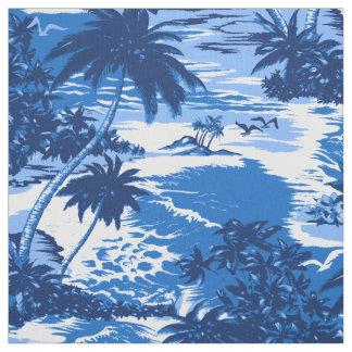 Napili Bay Hawaiian Island Scenic Aloha Print Fabric