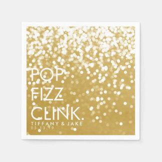 Napkin - Sparkling Pop Fizz Clink Gold