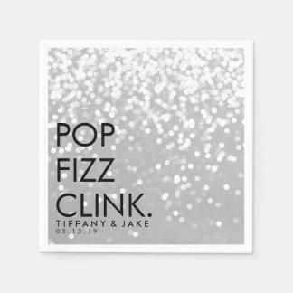 Napkin - Sparkling Pop Fizz Clink Silver