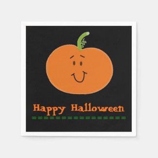 Napkin Standard Black Orange Pumpkin Halloween Paper Napkin