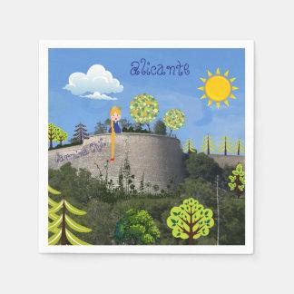 Napkins Alicante castle Paper Napkins