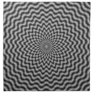 Napkins   Circular Wave in Monochrome