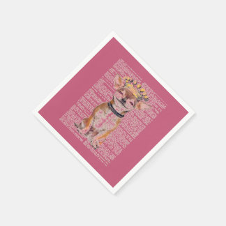 NAPKINS FOR THE KING! (CHIHUAHUA) PAPER NAPKINS