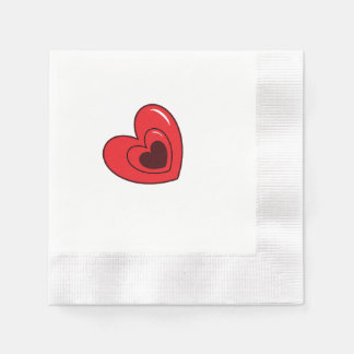 Napkins - Hearts Disposable Napkins