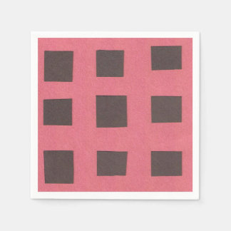 Napkins with a Checkerboard Design Paper Napkins