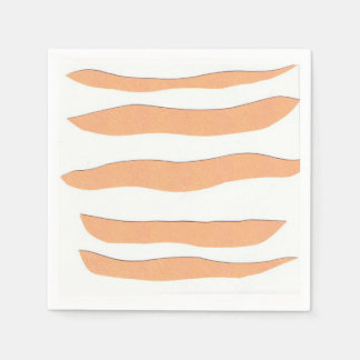 Napkins with Orange Tiger Stripes Paper Napkins