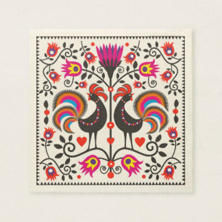 Napkins with roosters disposable napkin