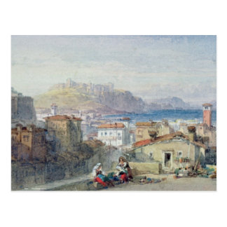 Naples, 19th century; watercolour; postcard