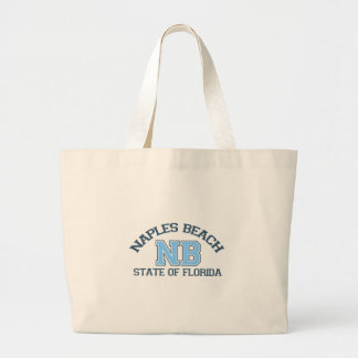 Naples Beach. Large Tote Bag