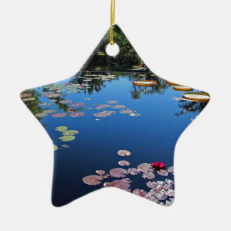 Naples Botanical Garden Water Lilies Ceramic Ornament