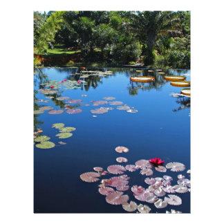 Naples Botanical Garden Water Lilies Custom Letterhead