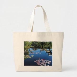 Naples Botanical Garden Water Lilies Large Tote Bag