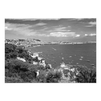 Naples is located on the shore of the bay photo print