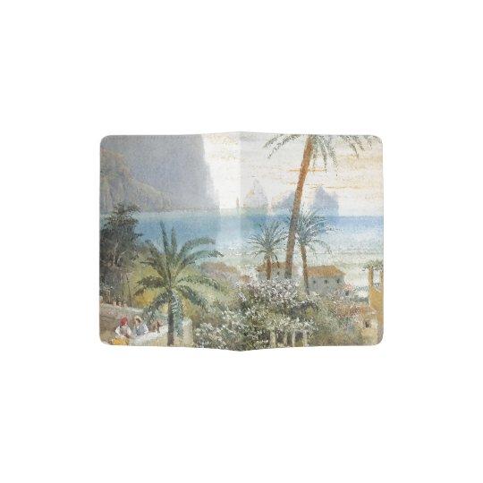 Naples Island Italy Palm Tree Sea Passport Holder
