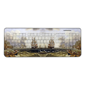 Naples Italy Ocean Clipper Ships Wireless Keyboard