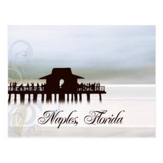 Naples Pier Blues Postcard