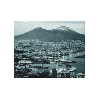 Naples-Vesuvius Canvas Print