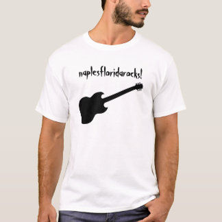 naplesfloridarocks! black guitar T-Shirt