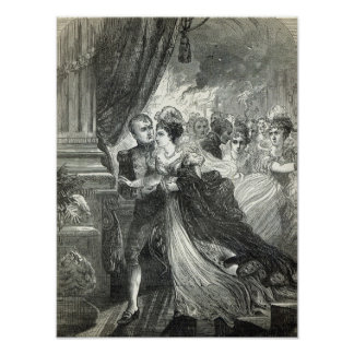 Napoleon and Marie-Louise escaping from the Poster