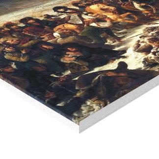 Napoleon at Eylau Canvas Print