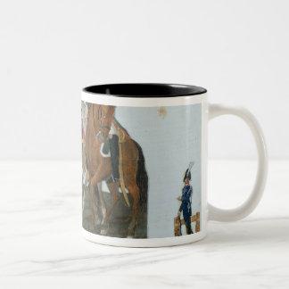 Napoleon Bonaparte  and the Varsovian Sentry Two-Tone Coffee Mug
