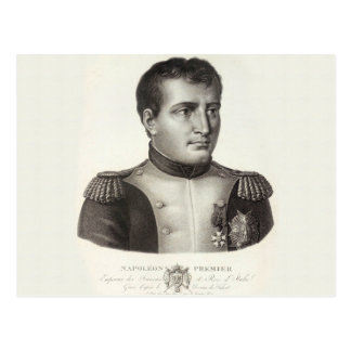 Napoleon Bonaparte Elegant Antique Engraving Postcard