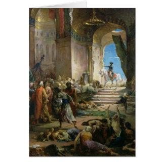 Napoleon Bonaparte  in the Grand Mosque at Cairo Card