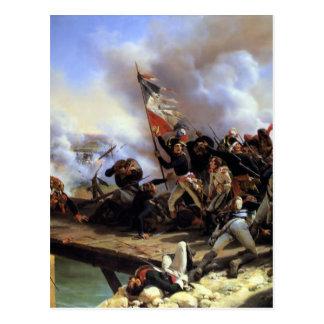 Napoleon Bonaparte leading his troops Postcard